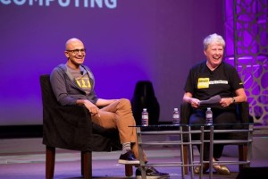 satya nadella and maria klawe at grace hopper oct 2014